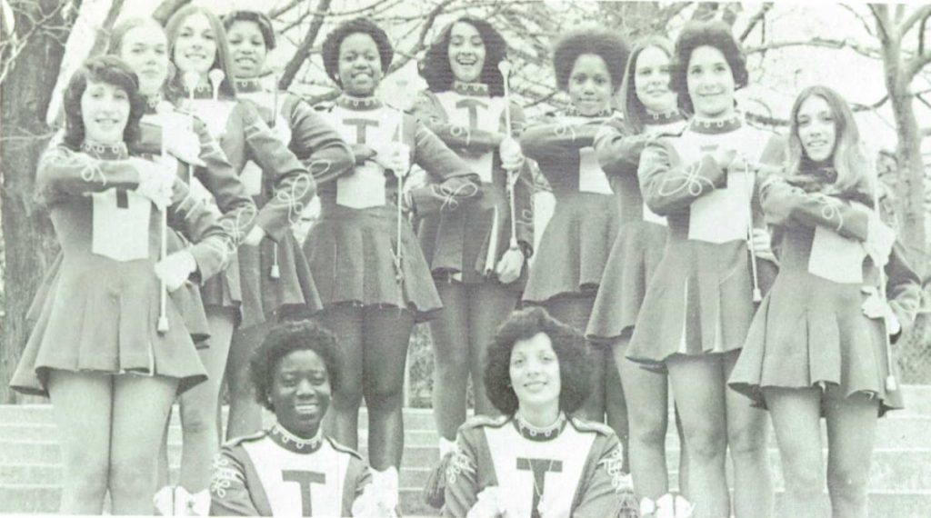 Michele Tuck-Ponder with the 1975 Teaneck Majorettes