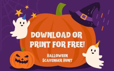 Halloween Scavenger Hunt (free and printable!)