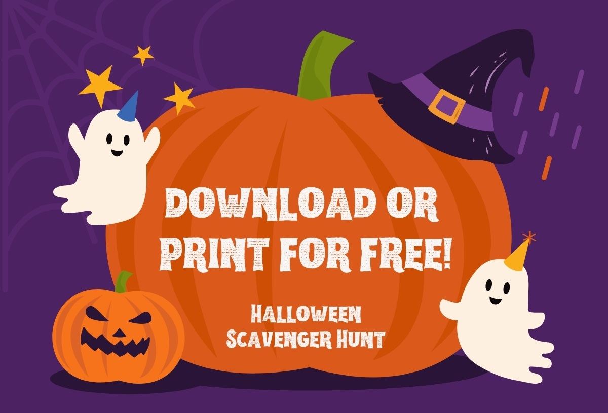 Download of print our Halloween Scavenger Hunt for free
